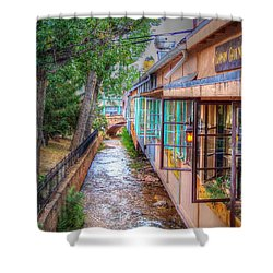 Shower Curtain featuring the photograph Fountain Creek Behind The Avenue by Lanita Williams