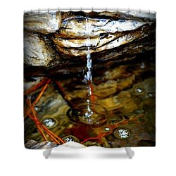 Shower Curtain featuring the photograph Fountain Drops by Tara Potts