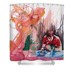 Fountain Full Of Blood Shower Curtain