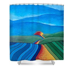 Shower Curtain featuring the painting Fountain Inn by Steve  Hester