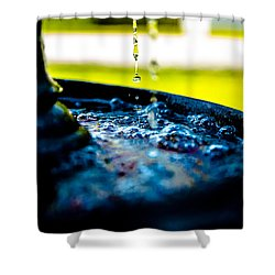 Fountain Of Time Shower Curtain by Mez