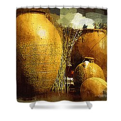 Fountain Of  Urns Shower Curtain by Kirt Tisdale