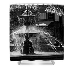 Shower Curtain featuring the photograph Fountain On Place Toulzac / Brive La Gaillarde by Barry O Carroll