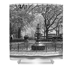 Fountain Time Shower Curtain by Catie Canetti