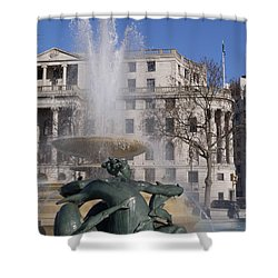 Fountains In Trafalgar Square Shower Curtain