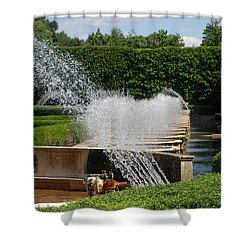 Shower Curtain featuring the photograph Fountains by Jennifer Ancker