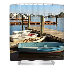 Shower Curtain featuring the photograph Four Boats  by Cynthia Guinn