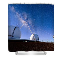 Four Lasers Attacking The Galactic Center Shower Curtain