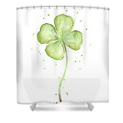 Four Leaf Clover Lucky Charm Shower Curtain