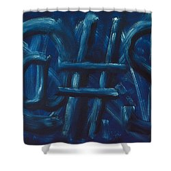 Four Letter Words Shower Curtain by Shawn Marlow
