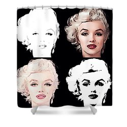 Four Marilyn Monroe Shower Curtain