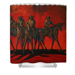 Four On The Hill Shower Curtain by Lance Headlee