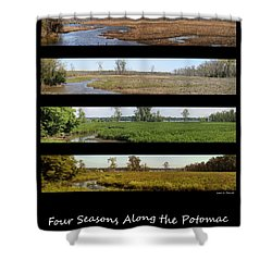 Four Seasons Along The Potomac Shower Curtain