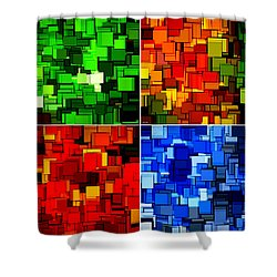Four Seasons In Abstract II Shower Curtain by Lourry Legarde