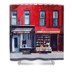 Four Shops On 11th Ave Shower Curtain by Anthony Butera
