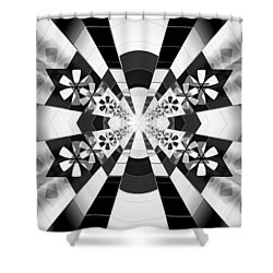 Shower Curtain featuring the drawing Four Star Gateway by Derek Gedney
