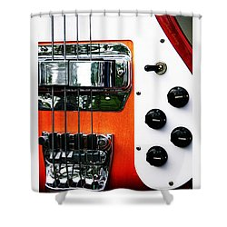 Four String Rickenbacker Bass  Shower Curtain