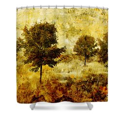 Four Trees Shower Curtain by John Edwards