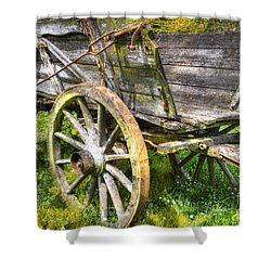 Four Wheels But No Horse Shower Curtain by Heiko Koehrer-Wagner