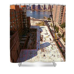 Fourth Floor Slab Shower Curtain