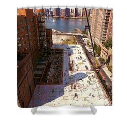 Fourth Floor Slab Shower Curtain by Steve Sahm