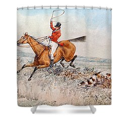 Fox Hunting Shower Curtain by Henry Thomas Alken