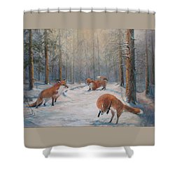 Forest Games Shower Curtain