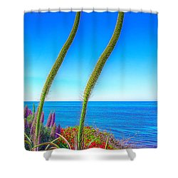 Shower Curtain featuring the photograph Foxtails On The Pacific by Jim Carrell