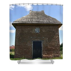 Shower Curtain featuring the photograph Foxton Dovecote by Richard Reeve