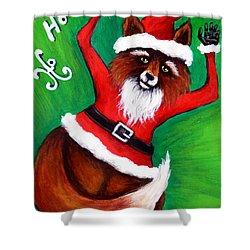 Foxy Santa Shower Curtain