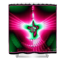 Fractal 11 Holy Spirit Shower Curtain by Rose Santuci-Sofranko