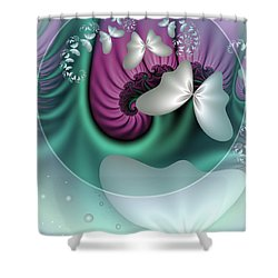 Fractal A Dream Of Butterflies Shower Curtain