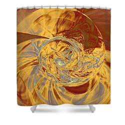 Fractal Ammonite Shower Curtain by Menega Sabidussi