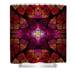 Fractal - Aztec - The All Seeing Eye Shower Curtain by Mike Savad