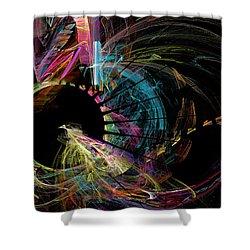 Fractal - Black Hole Shower Curtain by Susan Savad