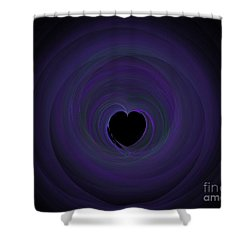 Shower Curtain featuring the digital art Fractal Blue by Henrik Lehnerer
