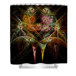 Fractal - Christ - Angels Embrace Shower Curtain by Mike Savad