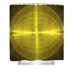 Fractal - Christ - Holy Cross Shower Curtain by Mike Savad
