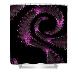 Fractal Curls Shower Curtain by Ann Garrett