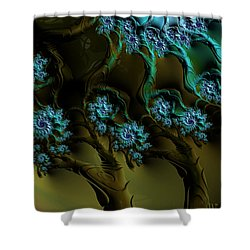 Fractal Forest Shower Curtain