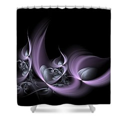 Fractal Fruits Shower Curtain