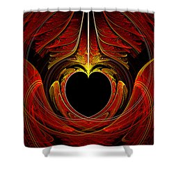 Fractal - Heart - Victorian Love Shower Curtain by Mike Savad