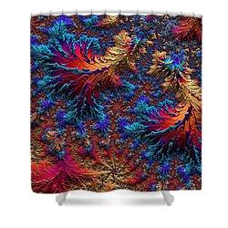 Fractal Jewels Series - Beauty On Fire II Shower Curtain