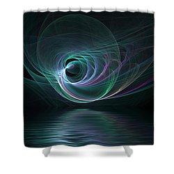 Fractal Lake Shower Curtain
