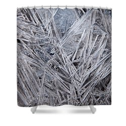 Frozen Fractal Shower Curtain