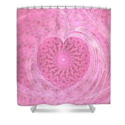 Fractal Love Shower Curtain by Peggy Hughes