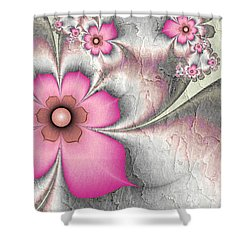 Fractal Nostalgic Flowers 2 Shower Curtain