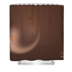 Shower Curtain featuring the digital art Fractal Orange Flair by Henrik Lehnerer