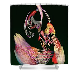 Fractal - Parrot Shower Curtain by Susan Savad