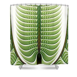 Shower Curtain featuring the digital art Fractal Pine by Anastasiya Malakhova